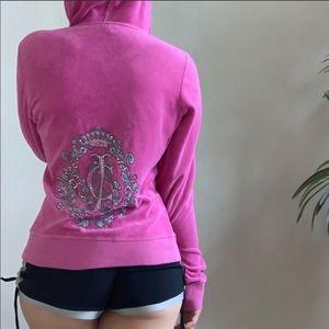 Juicy could tour pink velour hoodie